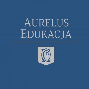 Logo Aurelus Edukacja podstawowe niebieskie
