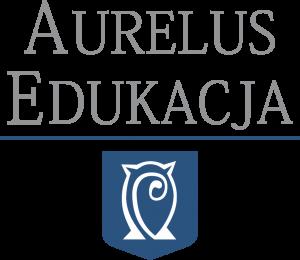 Logo Aurelus Edukacja podstawowe białe